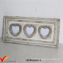 Parede de madeira Love Heart Multi Abertura Frames Shabby Chic