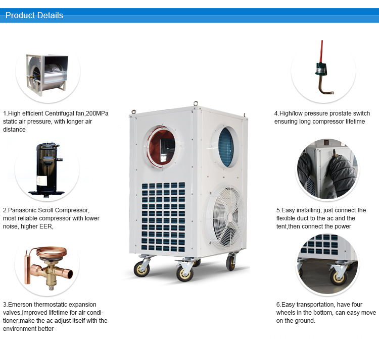 12kw Vertical Type Tent Air Conditioner