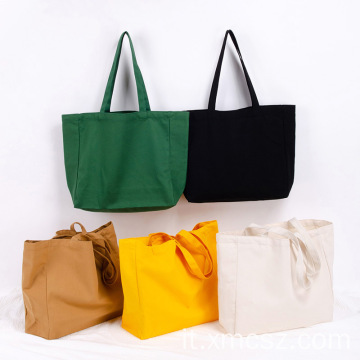 Shopper colorata in cotone biologico