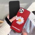 Weiche Leder Fragment Flower Phone Case Stickerei