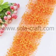 Orange Colors Artificial Faux Pearl Beaded Garland With 3+8MM Beads