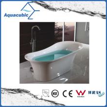 2 Sizes Bathroom White Free-Standing Acrylic Bathtub (AB6904-1)