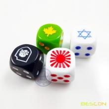 Custom Engraving Dice 16MM with Custom LOGO Engraved on 6 dots Side