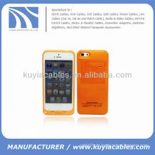 Externer Akku-Netzkoffer für iPhone 5c 2200mAh Orange
