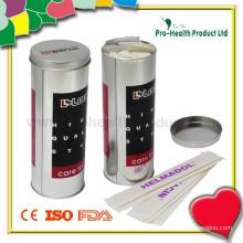 Hölzerner Zungen-Depressor in einer Zinn-Box (PH1038)