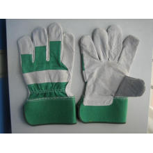 Grüne Kuh Split Leder Voll Palm Handschuh-3056.04