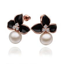 Flower Shape Pearl Earrings Imittation Pearl Women Jewelry