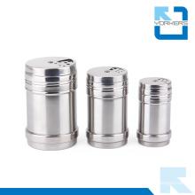 Multi-Size Stainless Steel Storage Bottle Storage Pot Toothpick Holder