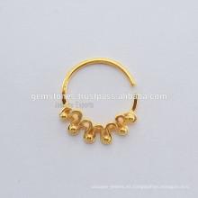 Joyería étnica del cuerpo del anillo del septo, fabricante al por mayor de la joyería del anillo del septo del diseñador, joyería anaranjada del anillo de la nariz