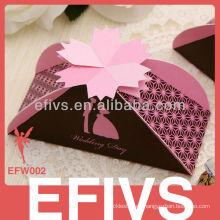 Rojo romántico hermosa delicada caja de joyas embalaje proveedor