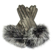 winter women dress leather gloves