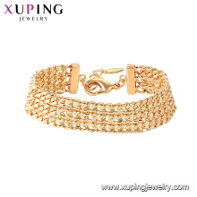 75796 xuping fashion chain ladies gold 18k plated bracelet jewellery