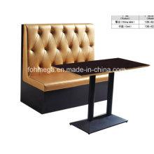 Luxuriöse Polsterung Zwei Sitzplatz Restaurant Stand (FOH-CBCK13)