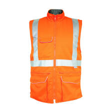 Flammhemmender orangefarbener Bodywarmer
