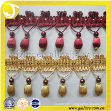 new design beaded fringes for house decor accessories