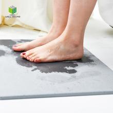 Super water absorbent diatomite bath mat carpet