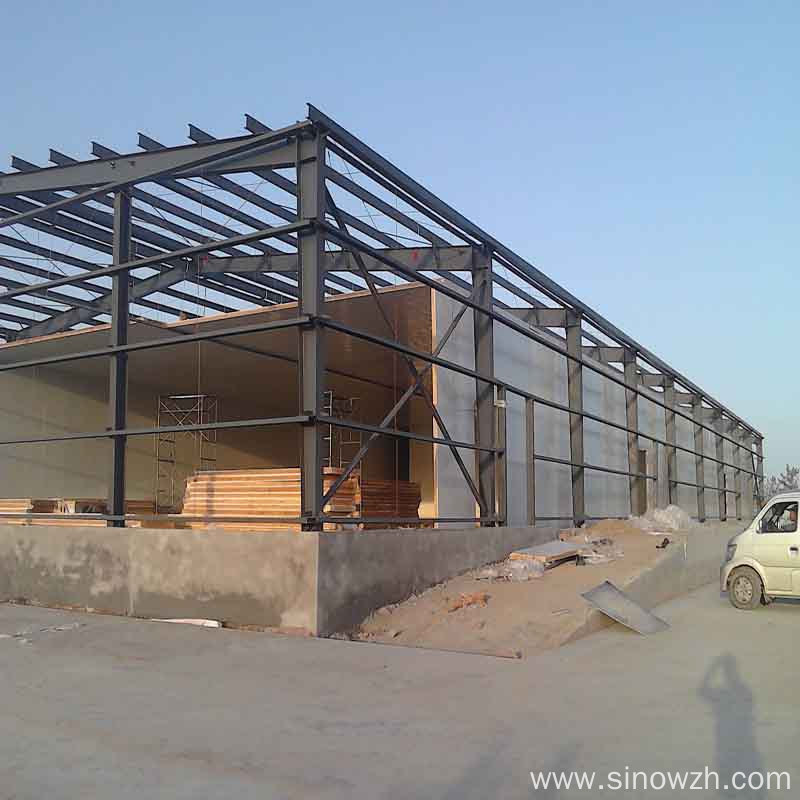 Vegetable steel frame structure cold room storage building