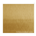 Feuilles PVD SS Color HL Gold
