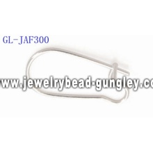 Silver plated kidney ear wire