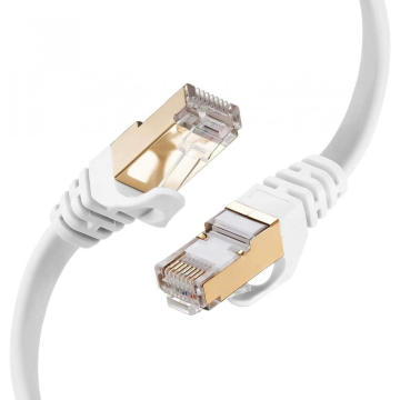 Red de Internet plana blindada con cable Ethernet plano Cat7