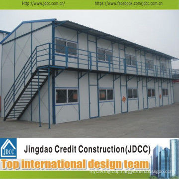 Low Cost Two-Storey Prefabricated Steel House