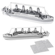 Brinquedos educativos Blocos O brinquedo Titanic 3D Puzzle
