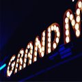 Vintage Light Up Marquee Sign Letters