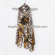 lenço impresso do leopardo da forma
