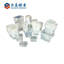 china popular plástico molde do recipiente de injeção de plástico moldagem por injeção de plástico molde do recipiente redondo