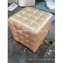 Golden PU events furniture ottoman XY0309-1