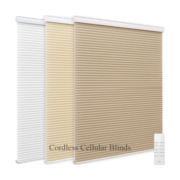 Motorización Inalámbrica apilada Honeycomb Cellular Shades