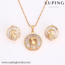 62638-Xuping Fashion Woman Jewlery Set with 18K Gold Plated