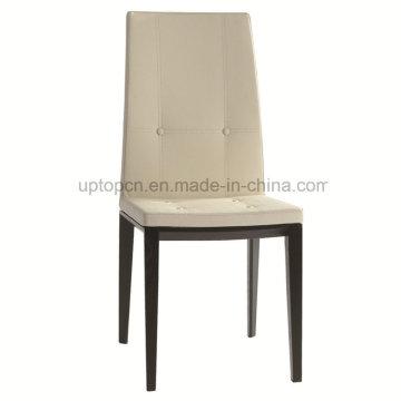 Белый деревянный обеденный Безрукий кожаное кресло для ресторана (СП-EC738)