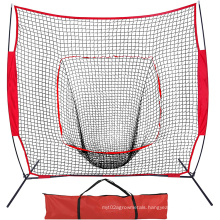 Heavy Duty 7*7 Baseball Softball Hitting Net. Indoor/Outdoor Training Target with Carry Bag