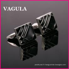 VAGULA qualité émail Français boutons de manchettes (L51422)