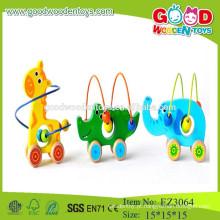Brinquedos adoráveis de animais brinquedos para crianças contas de animais brinquedos de madeira para crianças brinquedos para animais