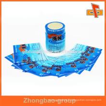 Custom printed plastic PVC heat shrink film for bottle label in roll for packing