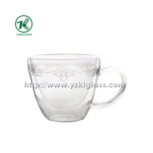 Clear Double Wall Water Cup by SGS... (14*10*9)