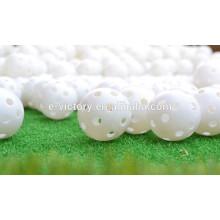 New plastic practice golf balls Light Airflow Hollow Plastic Golf Practice Training Balls alibaba express