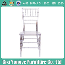 Clear Resin Tiffany Chair for Outdoor Party