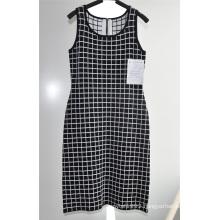 Ladies Viscose Nylon Sleeveless Zipper Sweater Dress
