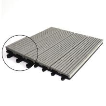DIY Floor WPC Outdoor Patio Tiles Decking Wood Plastic Composite Floor Panel