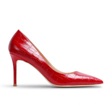 2020 Genuine leather heels  pumps  custom  women  pumps  ladies shoes  large size  heels shoes with  thin heels for women