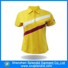 China-Lieferanten-preiswerte Großhandelsart und weise-Frauen-Polo-Hemden