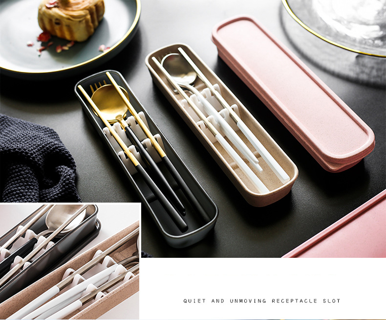 Spoon Chopsticks Set With Case
