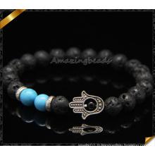 Bracelets de conception faits à la main Main Caractéristiques Bracelets de perles de lave (CB0114)