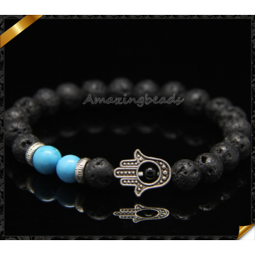 Handmade Design Bracelets Hand Findings Lava Beads Bracelets (CB0114)
