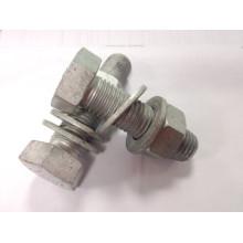 8.8 grade HDG hex bolt nut washer