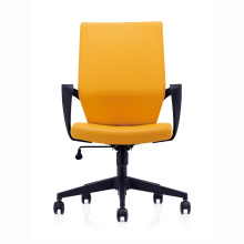 Cheap Price Middle Back Leather Office Staff Chair Meeting Chair with Wheels