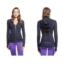 87%Nylon 13%Spandex with Power Mesh Details Fashion Woman Sports Jacket